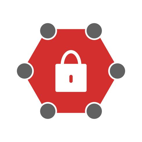 Geschütztes Netzwerk-Icon-Design