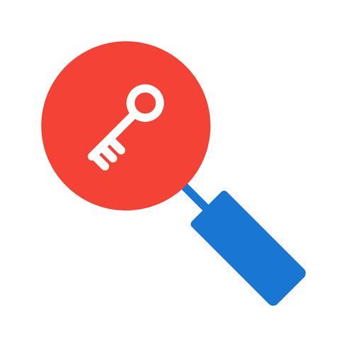 Disegno dell'icona di ricerca di parole chiave