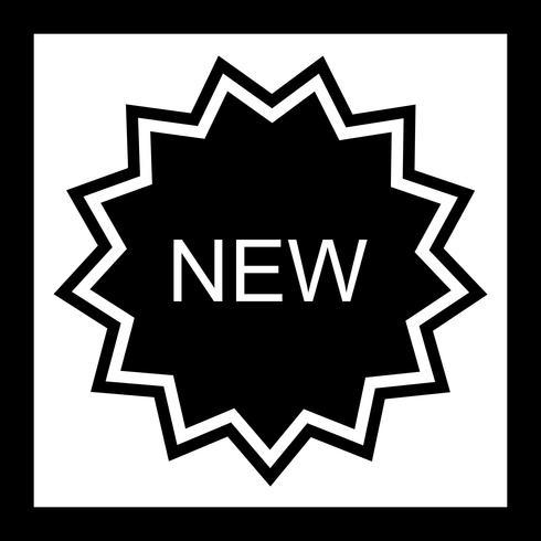 Nieuw pictogramontwerp vector