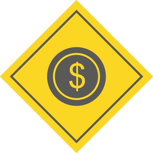 dollar munt pictogram ontwerp