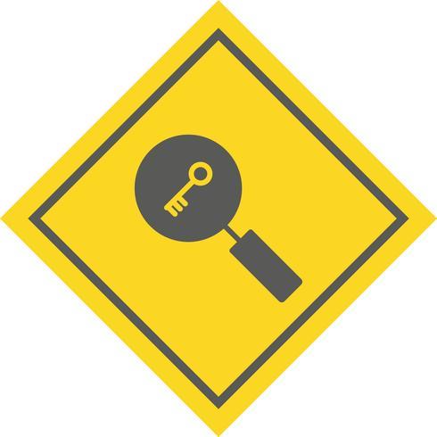 Design de ícone de pesquisa de palavra-chave