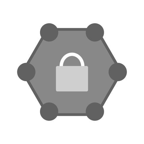 Beschermd netwerk pictogram ontwerp