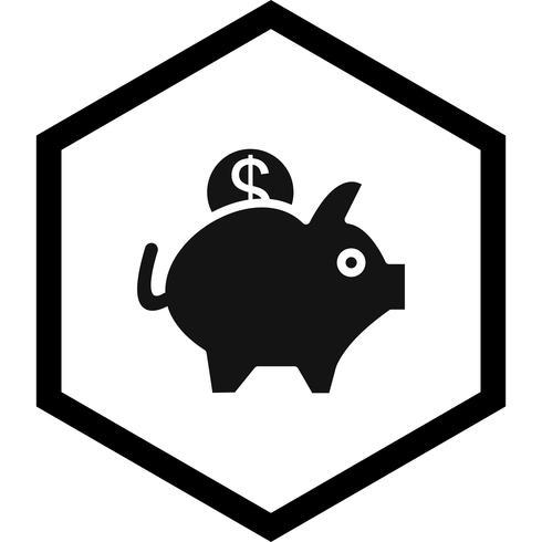 diseño de icono de alcancía