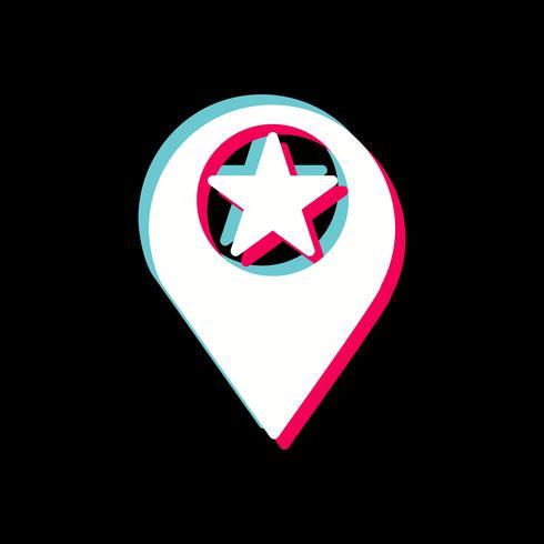 Starred Location Icon Design