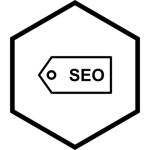 seo tag pictogram ontwerp vector