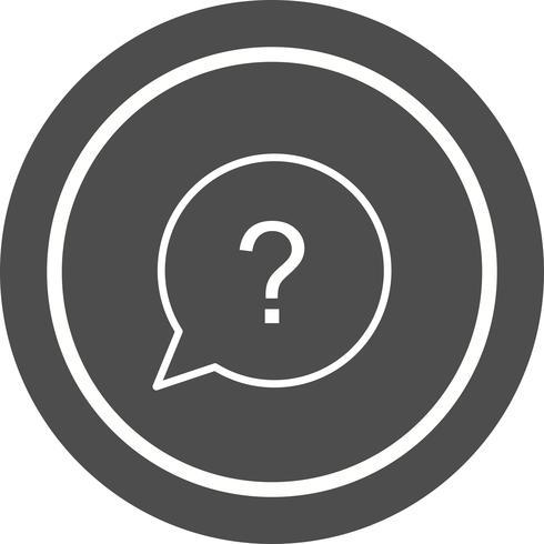 Vraag Icon Design vector