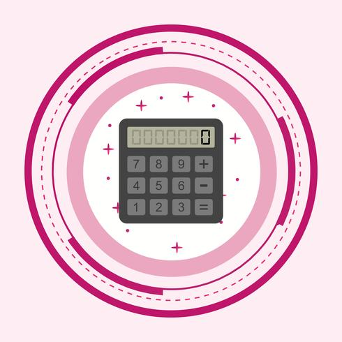 Calculator pictogram ontwerp vector