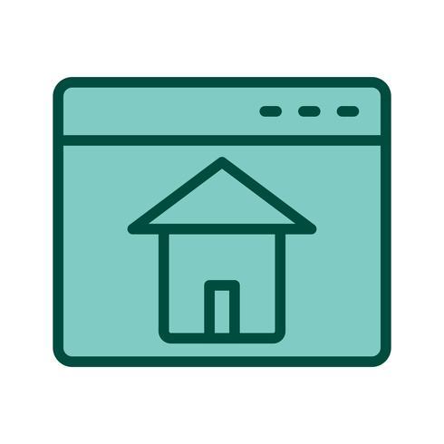 conception d'icône page d'accueil