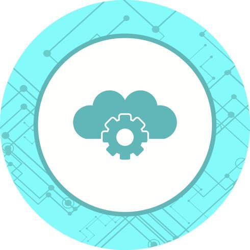 Cloud instellingen pictogram ontwerp vector