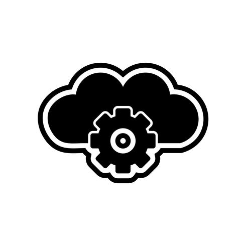 Cloud-Einstellungs-Ikonendesign
