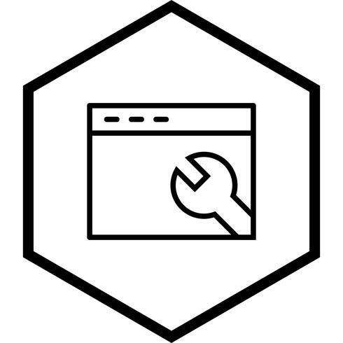 Configuración del navegador Icono de diseño