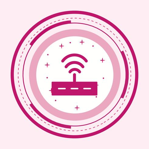Router Icon Design vector