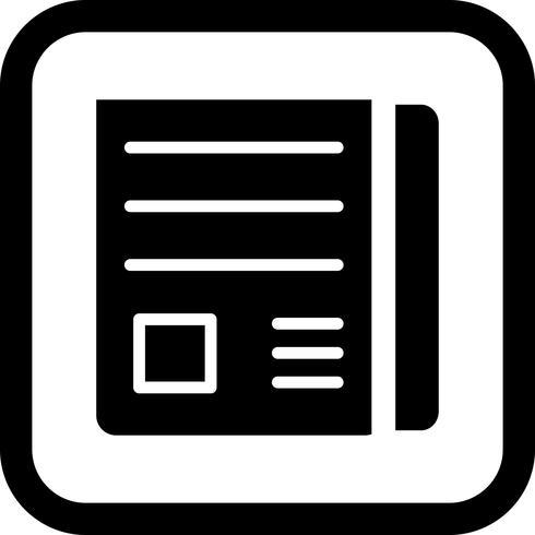 Nieuws papier pictogram ontwerp vector
