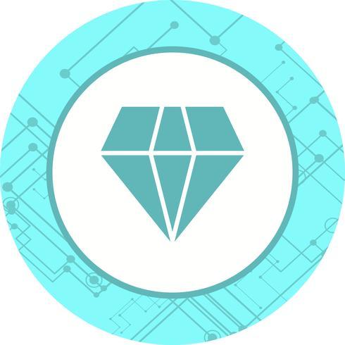 Desenho de ícone de diamante