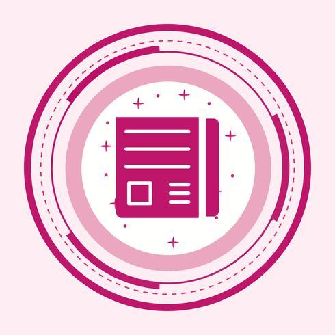 Papel de noticias Icon Design
