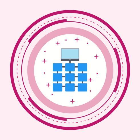 Design de ícone de rede