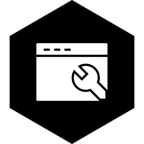 Browser instellingen pictogram ontwerp