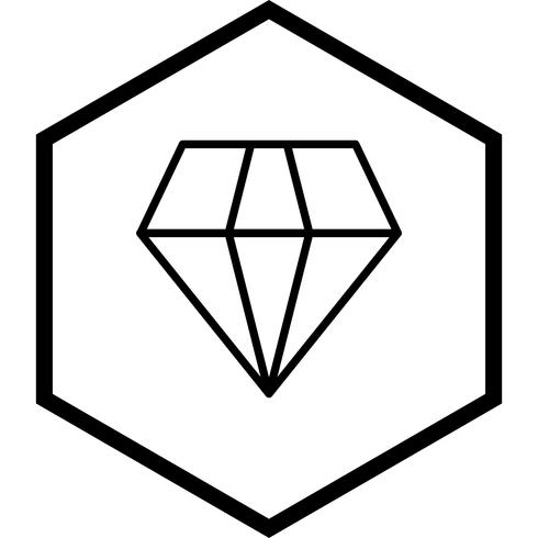 Diamant-Icon-Design vektor