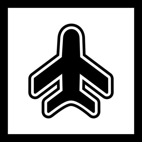 Diseño de icono de avión