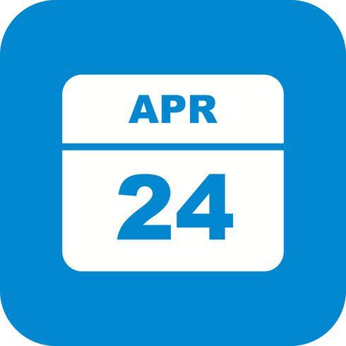 24. April Datum an einem Tagkalender