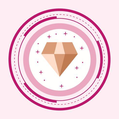 disegno dell'icona del diamante