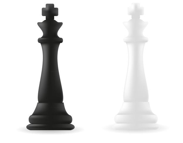 koning schaakstuk zwart en wit