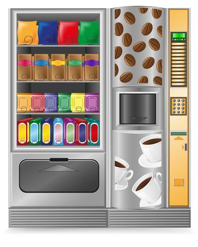 Vending kaffe och sneck är en maskin