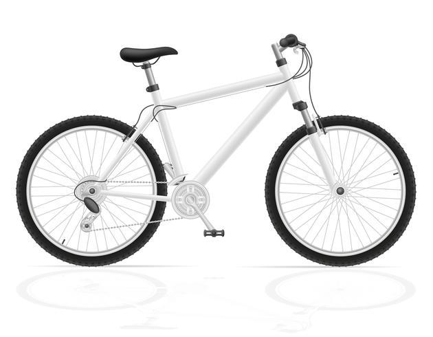Bicicleta de montaña con ilustración de vector de cambio de marcha