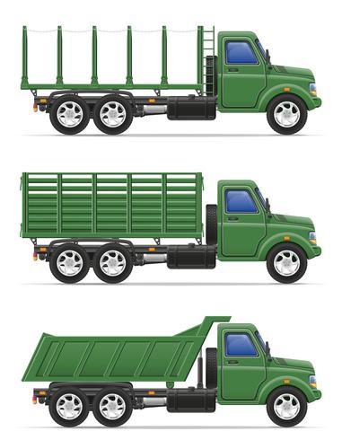 camion de fret pour le transport de marchandises vector illustration