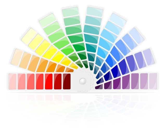 ilustração vetorial de paleta de cores vetor
