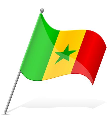drapeau de l'illustration vectorielle du Sénégal vecteur