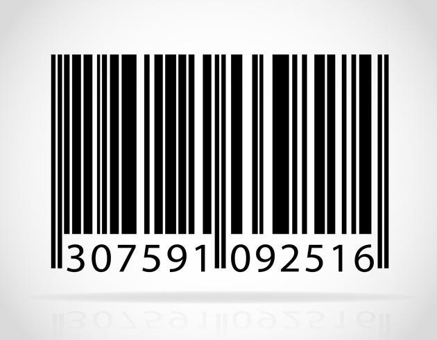 illustration vectorielle de code à barres