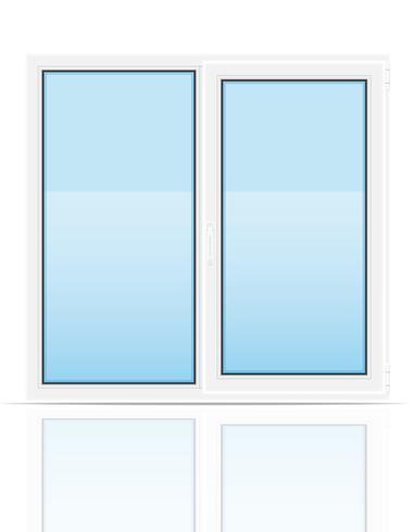 illustrazione trasparente di vettore di vista della finestra trasparente di plastica