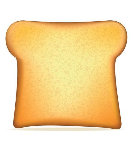 illustrazione vettoriale di pane tostato