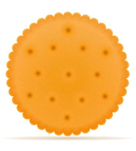 crispy biscuit cookie vector illustration