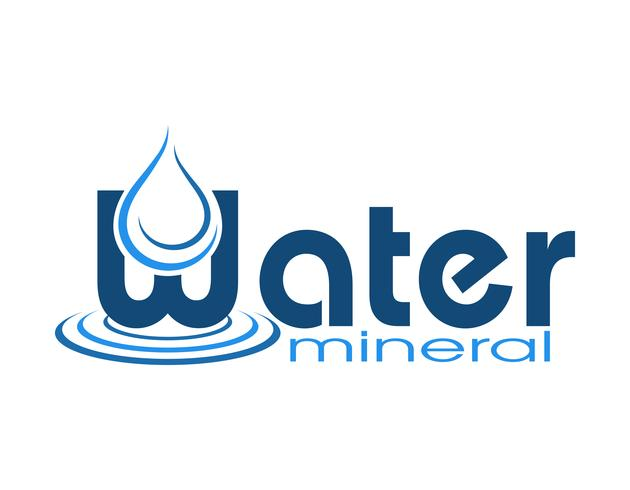 logo mineral water vector illustration