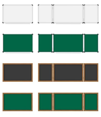 wooden and plastic school board vector illustration