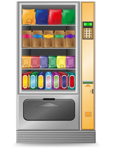 vending snack is a machine vector illustration