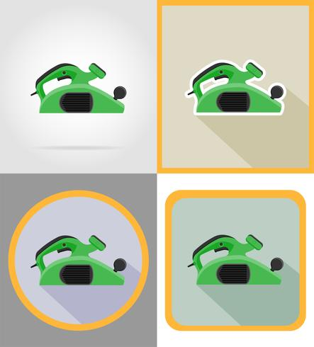 electric jointer tools for construction and repair flat icons vector illustration