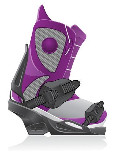 boot och bindande för snowboard vektor illustration