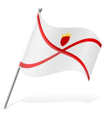 vlag van Jersey vectorillustratie