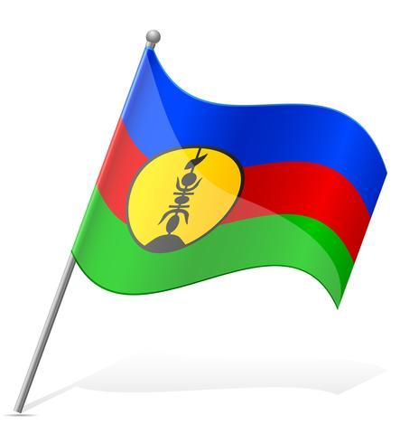 flag of New Caledonia vector illustration