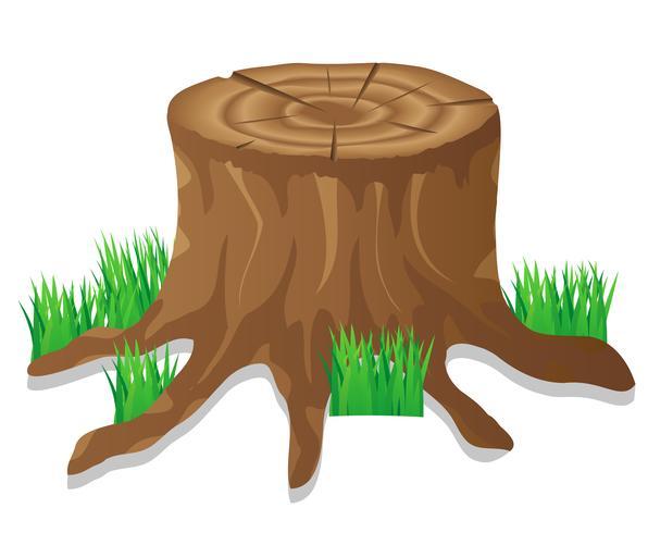 stump vektor illustration