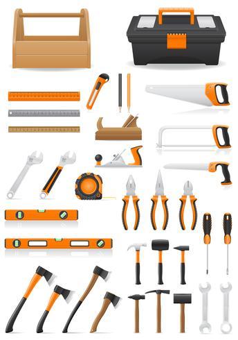 establecer herramientas iconos vector illustration