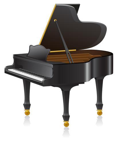 ilustración vectorial de piano