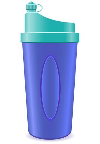 garrafa de abanador para ilustração vetorial de fitness