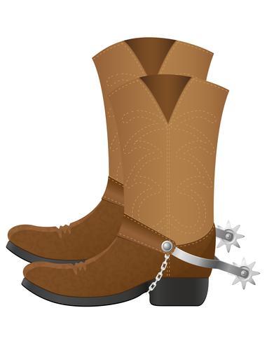 botas de vaquero ilustración vectorial