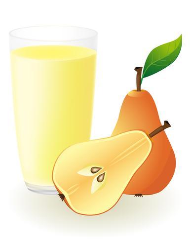 illustrazione vettoriale di succo di pera