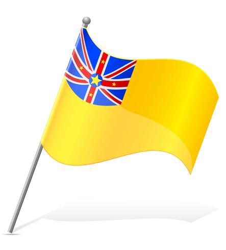 vlag van Niuean vectorillustratie