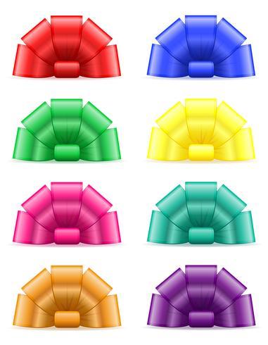 set iconos arco para la ilustración de vector de regalo